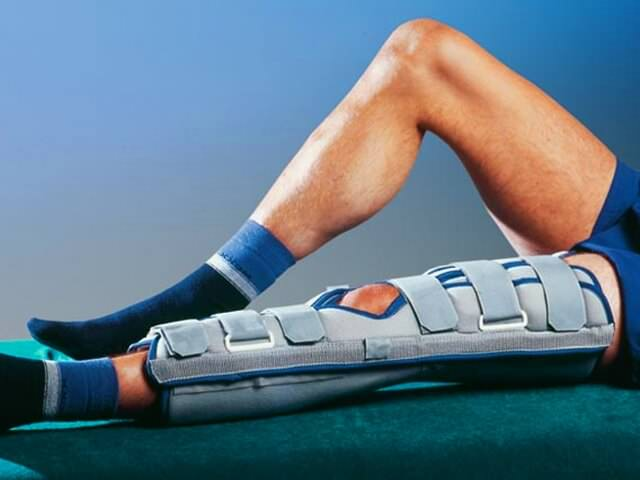 Как в домашних условиях разработать колено после гипса