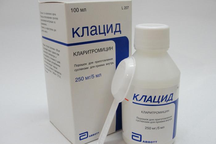 Препарат группы антибактериальных средств Кларитромицин